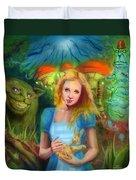 Alice  Duvet Cover by Luis  Navarro