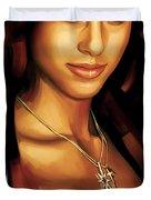 Alicia Keys Artwork 1 Duvet Cover by Sheraz A