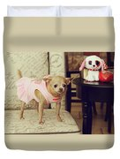 All Dressed Up Duvet Cover by Laurie Search