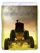 All The Feilds She Plowed Duvet Cover by Jeff Swan