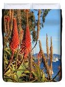 Aloe Vera Bloom Duvet Cover by Mariola Bitner