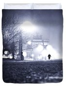 Alone Brooklyn Nyc Usa Duvet Cover by Sabine Jacobs