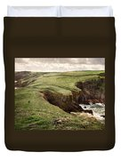 Along The Coast Path Duvet Cover by William Beuther