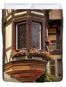 Alsace Window Duvet Cover by Brian Jannsen