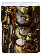 Alto Sax Reflections Duvet Cover by Ken Smith