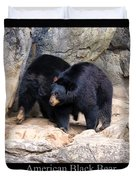 American Black Bear  Duvet Cover by Chris Flees
