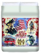 American Firefighters Duvet Cover by Andrew Read