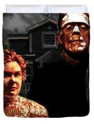 American Gothic Resurrection Home Sweet Home 20130715 Square Duvet Cover by Wingsdomain Art and Photography