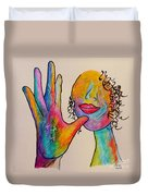 American Sign Language . . .  Mother Duvet Cover by Eloise Schneider