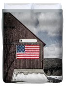 Americana Patriotic Barn Duvet Cover by Edward Fielding