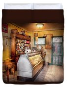 Americana - Store - At The Local Grocers Duvet Cover by Mike Savad