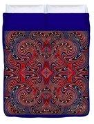 Americana Swirl Design 1 Duvet Cover by Sarah Loft