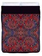 Americana Swirl Design 2 Duvet Cover by Sarah Loft