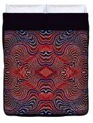 Americana Swirl Design 7 Duvet Cover by Sarah Loft
