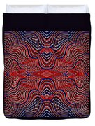Americana Swirl Design 9 Duvet Cover by Sarah Loft