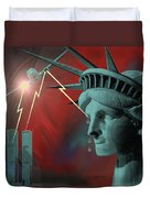 Americas Deepest  Wound  - 100 Duvet Cover by Irmgard Schoendorf Welch