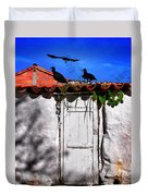 Amigos Negros Duvet Cover by Skip Hunt