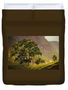 Among The Mountains And Tea Plantations. Nuwara Eliya. Sri Lanka Duvet Cover by Jenny Rainbow
