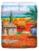 Among The Poppies Duvet Cover by Jean-Marc Janiaczyk