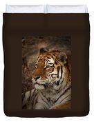 Amur Tiger 2 Duvet Cover by Ernie Echols