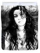 Amy Winehouse Duvet Cover by Barbara Chichester