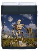 An Advanced Robot On An Exploration Duvet Cover by Stocktrek Images
