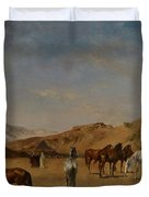 An Arabian Camp Duvet Cover by Eugene Fromentin