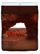 An Arch Foreground The Pillars Duvet Cover by Jeff  Swan