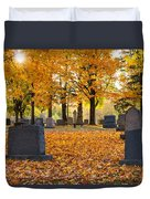 Forest Hill Autumn Light  Duvet Cover by Mary Amerman