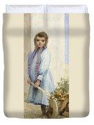 An Italian Peasant Girl Duvet Cover by Ada M Shrimpton