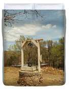 An Old Well In Lincoln City New Mexico Duvet Cover by Jeff Swan