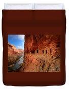 Anasazi Granaries Duvet Cover by Inge Johnsson