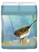 And Down I Go Duvet Cover by Betty LaRue