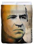 Andrew Johnson Duvet Cover by Corporate Art Task Force