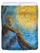 Angel Moon II Duvet Cover by Nik Helbig