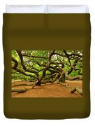 Angel Oak Tree Branches Duvet Cover by Louis Dallara