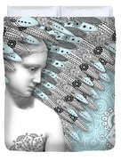 Angelica Hiberna - Angel of Winter Duvet Cover by Christopher Beikmann