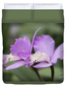 Angels Treasure Hawaii Orchid Duvet Cover by Sharon Mau
