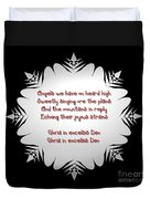 Angels We Have Heard On High Snowflake Duvet Cover by Rose Santuci-Sofranko