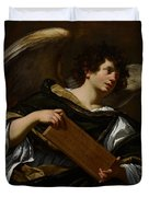 Angels With Attributes Of The Passion Duvet Cover by Simon Vouet