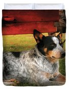Animal - Dog - Always Faithful Duvet Cover by Mike Savad