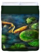 Animal - Fish - The Shy Fish  Duvet Cover by Mike Savad