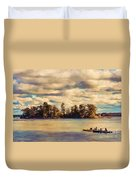 Anne Lacys Hamlin Lake Duvet Cover by Lianne Schneider and Anne Lacy