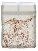 Annunciation  Duvet Cover by Rembrandt Harmenszoon van Rijn