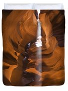 Antelope Canyon A Narrow Canyon Carved Duvet Cover by Brian Guzzetti