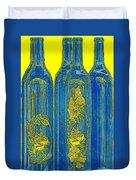 Antibes Blue Bottles Duvet Cover by Ben and Raisa Gertsberg