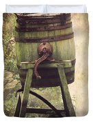 Antique Butter Churn Duvet Cover by Linsey Williams