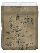 Antique Dental Chair Patent Duvet Cover by Dan Sproul