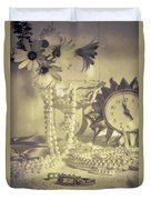 Antique Dressing Table Duvet Cover by Amanda Elwell