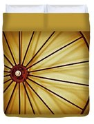 Antique Farm Wheel Duvet Cover by Carolyn Marshall